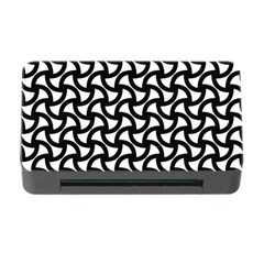 Grid Pattern Background Geometric Memory Card Reader With Cf by Onesevenart