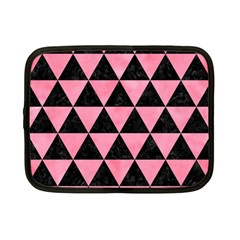 Triangle3 Black Marble & Pink Watercolor Netbook Case (small)  by trendistuff