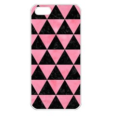 Triangle3 Black Marble & Pink Watercolor Apple Iphone 5 Seamless Case (white) by trendistuff