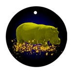 Hippo-Sparkle Ornament (Round)