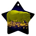Hippo-Sparkle Ornament (Star)