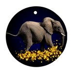 Elephant Sparkle Ornament (Round)