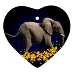 Elephant Sparkle Ornament (Heart)