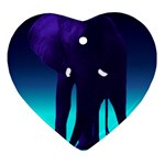 Blue Elephant Ornament (Heart)