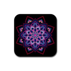 Mandala Circular Pattern Rubber Square Coaster (4 Pack)  by Onesevenart