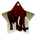 Red Elephant Big Tusks Ornament (Star)