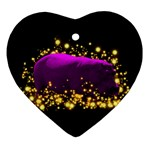 Hippo Sparkle Ornament (Heart)