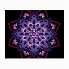 Mandala Circular Pattern Small Glasses Cloth (2 Side) by Onesevenart