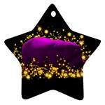 Hippo Sparkle Ornament (Star)
