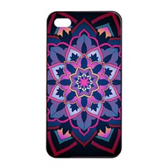 Mandala Circular Pattern Apple Iphone 4/4s Seamless Case (black) by Onesevenart