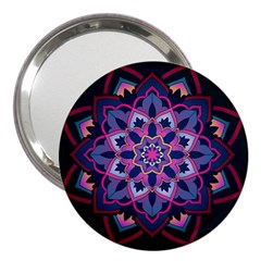 Mandala Circular Pattern 3  Handbag Mirrors by Onesevenart