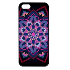 Mandala Circular Pattern Apple Iphone 5 Seamless Case (black) by Onesevenart