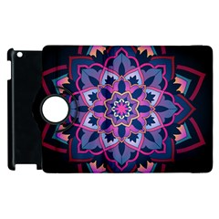 Mandala Circular Pattern Apple Ipad 3/4 Flip 360 Case by Onesevenart