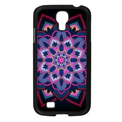 Mandala Circular Pattern Samsung Galaxy S4 I9500/ I9505 Case (black) by Onesevenart