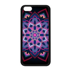 Mandala Circular Pattern Apple Iphone 5c Seamless Case (black) by Onesevenart