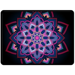 Mandala Circular Pattern Double Sided Fleece Blanket (large)  by Onesevenart