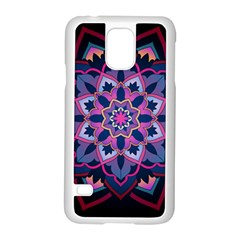 Mandala Circular Pattern Samsung Galaxy S5 Case (white) by Onesevenart