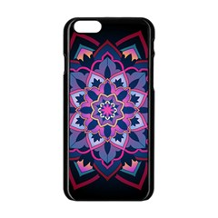 Mandala Circular Pattern Apple Iphone 6/6s Black Enamel Case by Onesevenart