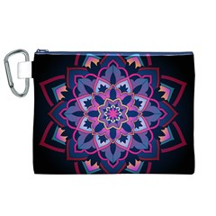 Mandala Circular Pattern Canvas Cosmetic Bag (xl) by Onesevenart