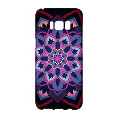 Mandala Circular Pattern Samsung Galaxy S8 Hardshell Case  by Onesevenart