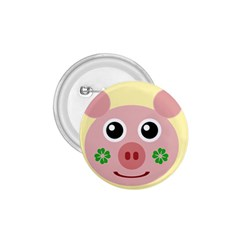 Luck Lucky Pig Pig Lucky Charm 1 75  Buttons by Onesevenart