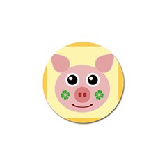 Luck Lucky Pig Pig Lucky Charm Golf Ball Marker by Onesevenart