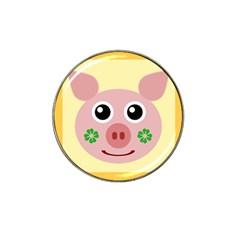 Luck Lucky Pig Pig Lucky Charm Hat Clip Ball Marker by Onesevenart
