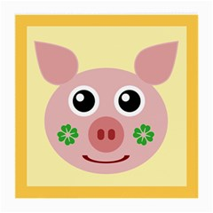 Luck Lucky Pig Pig Lucky Charm Medium Glasses Cloth (2 Side) by Onesevenart