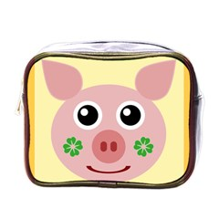Luck Lucky Pig Pig Lucky Charm Mini Toiletries Bags by Onesevenart
