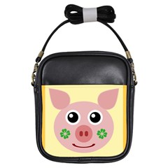 Luck Lucky Pig Pig Lucky Charm Girls Sling Bags by Onesevenart