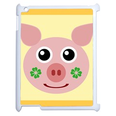 Luck Lucky Pig Pig Lucky Charm Apple Ipad 2 Case (white) by Onesevenart