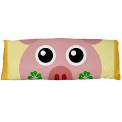 Luck Lucky Pig Pig Lucky Charm Body Pillow Case (dakimakura) by Onesevenart