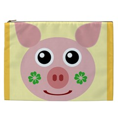 Luck Lucky Pig Pig Lucky Charm Cosmetic Bag (xxl)  by Onesevenart