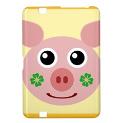 Luck Lucky Pig Pig Lucky Charm Kindle Fire Hd 8 9  by Onesevenart