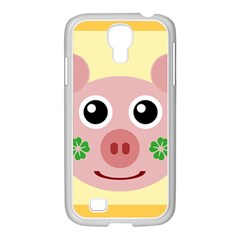 Luck Lucky Pig Pig Lucky Charm Samsung Galaxy S4 I9500/ I9505 Case (white) by Onesevenart