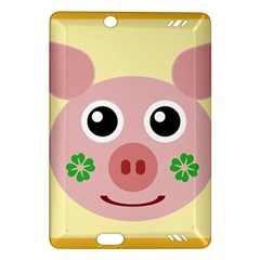 Luck Lucky Pig Pig Lucky Charm Amazon Kindle Fire Hd (2013) Hardshell Case by Onesevenart