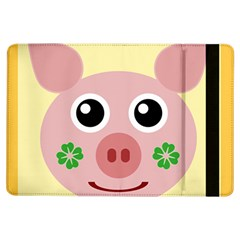Luck Lucky Pig Pig Lucky Charm Ipad Air Flip by Onesevenart