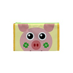 Luck Lucky Pig Pig Lucky Charm Cosmetic Bag (xs) by Onesevenart