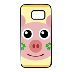 Luck Lucky Pig Pig Lucky Charm Samsung Galaxy S7 Black Seamless Case by Onesevenart