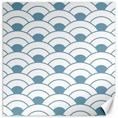 Art Deco Teal White Canvas 20  X 20   by 8fugoso