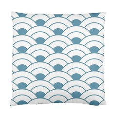Art Deco Teal White Standard Cushion Case (two Sides) by 8fugoso