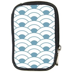 Art Deco Teal White Compact Camera Cases by 8fugoso