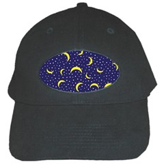 Moon Pattern Black Cap by Onesevenart