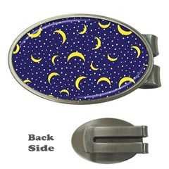 Moon Pattern Money Clips (oval)  by Onesevenart