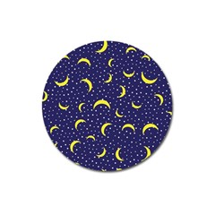 Moon Pattern Magnet 3  (round) by Onesevenart