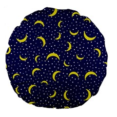 Moon Pattern Large 18  Premium Flano Round Cushions by Onesevenart