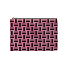 Woven1 Black Marble & Pink Watercolor Cosmetic Bag (medium)  by trendistuff