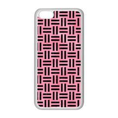 Woven1 Black Marble & Pink Watercolor Apple Iphone 5c Seamless Case (white) by trendistuff