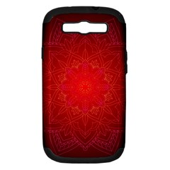 Mandala Ornament Floral Pattern Samsung Galaxy S Iii Hardshell Case (pc+silicone) by Onesevenart