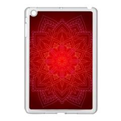 Mandala Ornament Floral Pattern Apple Ipad Mini Case (white) by Onesevenart